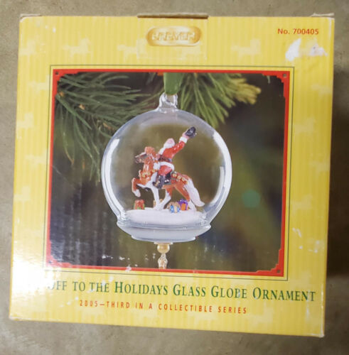 Breyer Hats Off To The Holidays 2005 Snow Globe Ornament #700405  New in box!