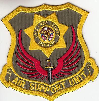 SALT LAKE COUNTY SHERIFF AIR SUPPORT UNIT UTAH UT POLICE SHOULDER PATCH