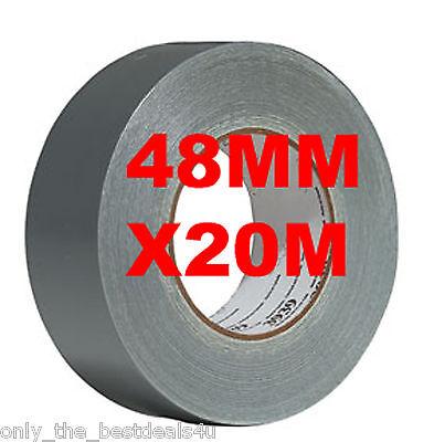 1 X Silber 48mm X 20m Gaffer Gaffa Tuch Ente Klebeband Stark Wasserfest Rolle (Klebeband Ente)