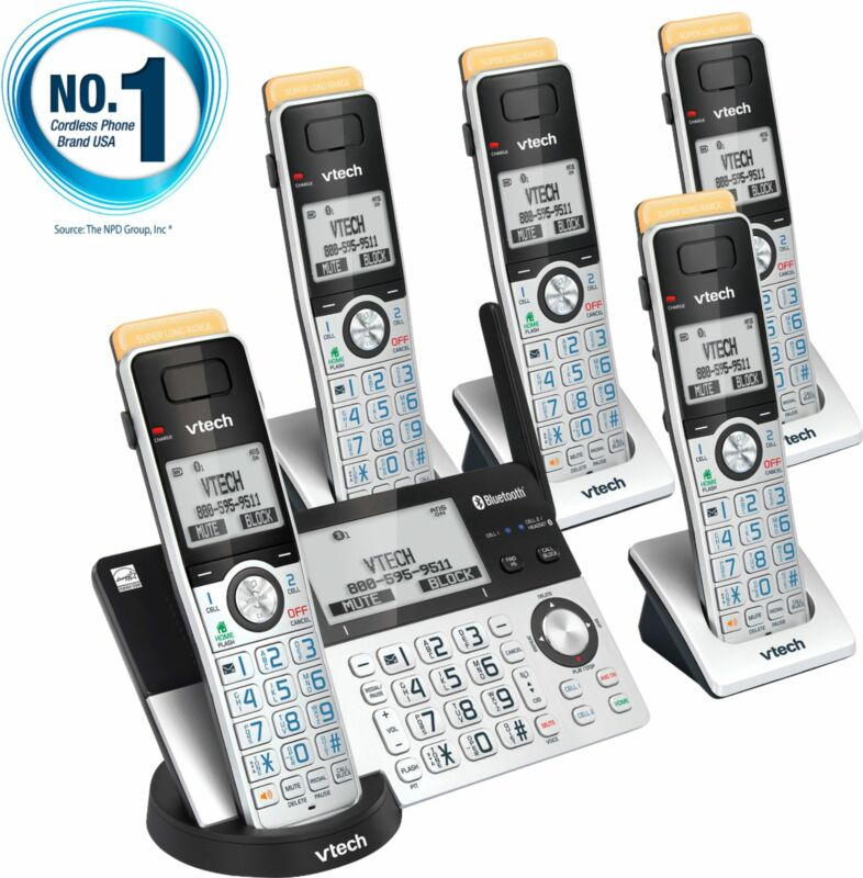 VTech - 5 Handset Connect to Cell Answering System with Super Long Range - Gr...