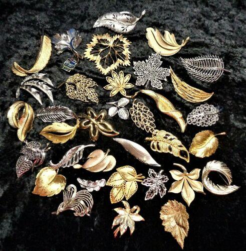 34 Piece LOT of Vintage & Modern  ALL DESIGNER Fall LEAVES, LEAF THEME PINS