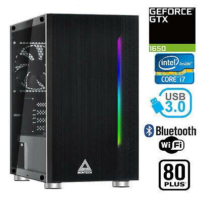 Gaming PC Desktop Computer RGB Intel i7 GTX 1650, 16GB RAM, 2TB HDD, 240GB SSD