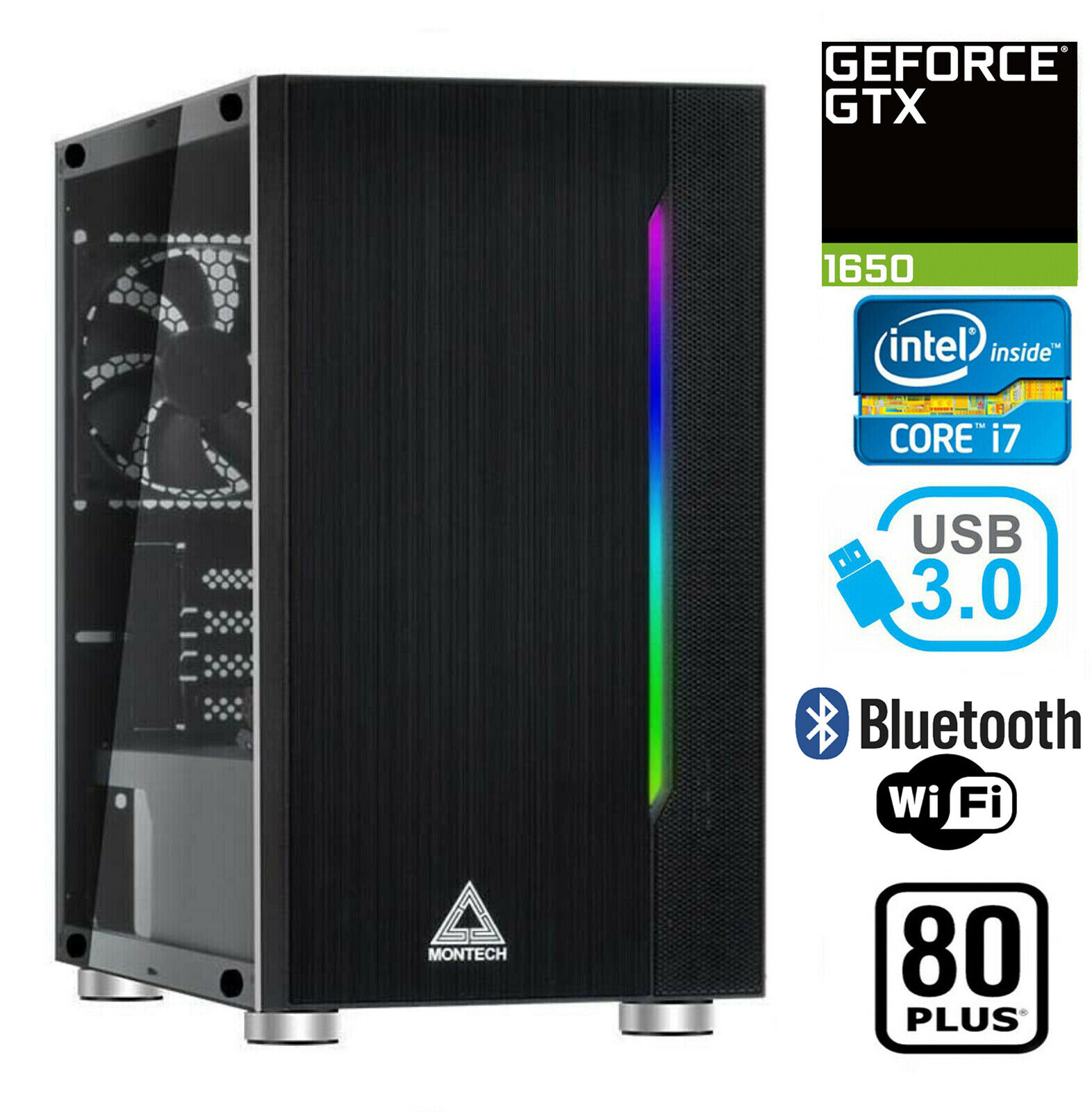 gaming pc desktop computer rgb intel i7
