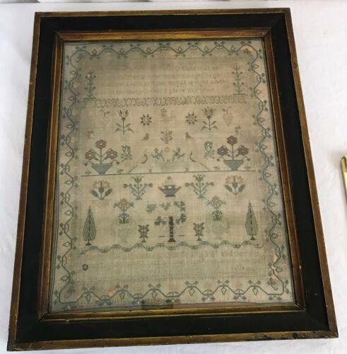 English Embroidery Sampler. Sarah Tulley 1831. Georgian Period