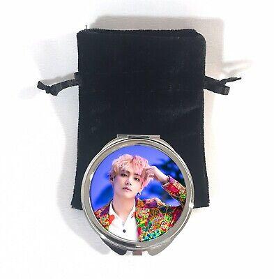 Custom Compact Mirror Gift BTS Taehyung V Bias Design (Design Compact Mirror)