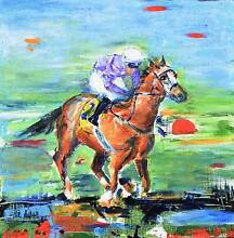 Original Horse Race Painting on Canvas Jindalee Brisbane South West Preview