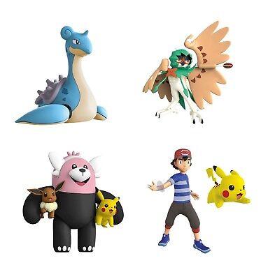 Pokemon Battle Feature Figure - Bewear, Decidueye, Lapras or Pikachu & Ash NEW