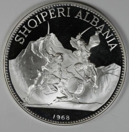 1968 Albania Silver 25 Leke Scanderbeg