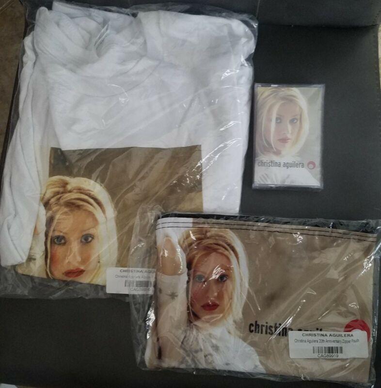 Christina Aguilera 20th Anniversary T-shirt (Large), Bag, Cassette Tape