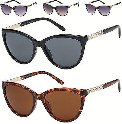 Designer Strass Katzenaugen Sonnenbrille Verziert Strass UV400 Damen