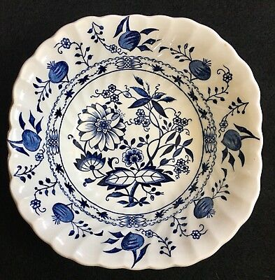 "Johnson Brothers England ""Saxony"" Blue Onion Square Cereal Bowl"