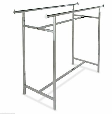 60l X 22w Commercial Grade Clothing Double Bar H Rack Adjustable Height 48