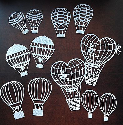 A Pack of 12 Balloon Die Cuts (white)