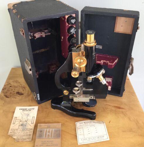 Leitz Wetzlar Microscope COMPLETE