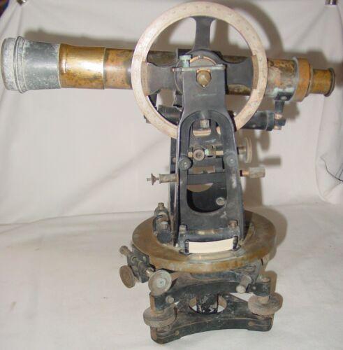 1910 Bausch Lomb Survey Theodolite mkd. Topley Co. Ottawa Canada