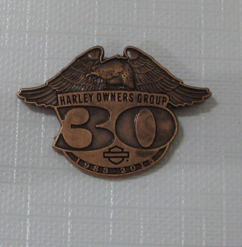 """Harley Owners Group """"HOG"""" 30th Anniversary Pin"""