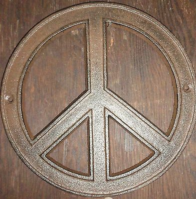 70s Style Decor (Hippy 60's and 70's Cast Iron Rustic style Peace Sign wall and project)