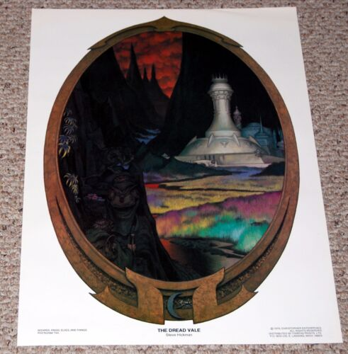 Lord Of The Rings Wizards Elves Things Poster 2 Dread Vale Frodo Sam Gollum 1976