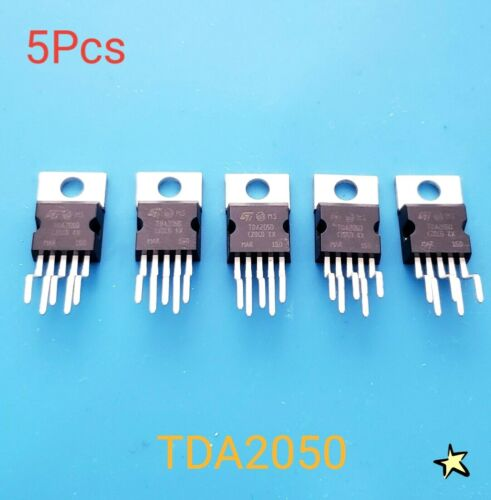 5pcs TDA2050 same as TDA2050V 35W Mono Hi-fi Amplifier 9 to 50 volt USA Seller