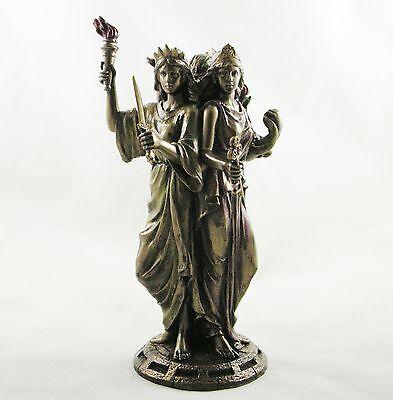 Hekate Figure Goddess of Magic Triple Figurine Greek Goddess Hecate Statue NEW