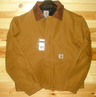 - Carhartt J002 Traditional Arctic Duck Quilt Lined Insulated Jacket Coat Brown