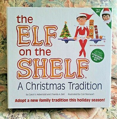 Elf on The Shelf: A Christmas Tradition Book Girl Doll Blue Eye Scout EUC! Read