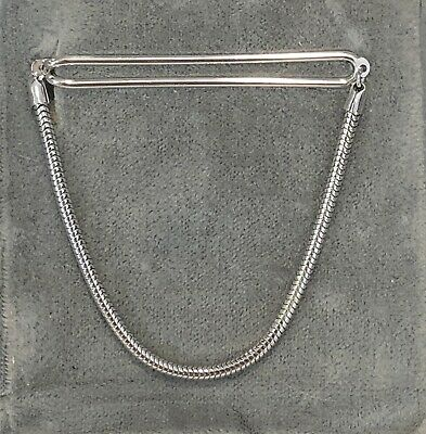 New 1930s Mens Fashion Ties VTG TIE BAR CHAIN 1/20 12KT GOLD FILLED Mens Formal Jewelry 1930's 40's NEW $20.00 AT vintagedancer.com