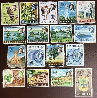 Seychelles 1962-68 Definitives 17 Values To 10r FU