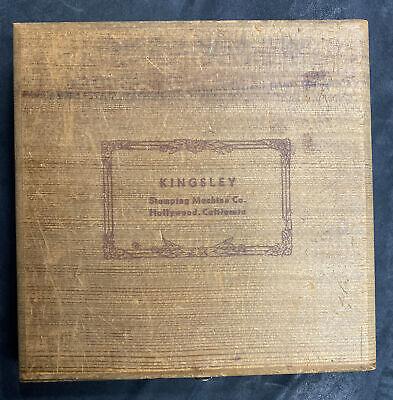 Vintage Kingsley Hot Foil Stamping Machine Co. 14 Pt Balloon Bold