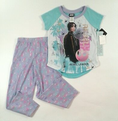 Girls Star Wars Pajamas (Girls Star Wars Short Sleeve Pajama Set Sleepwear Size Extra Small)