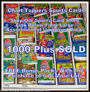Awesome Lot of 100 Unopened Old Vintage Football Cards in Wax Cello Rack Packs