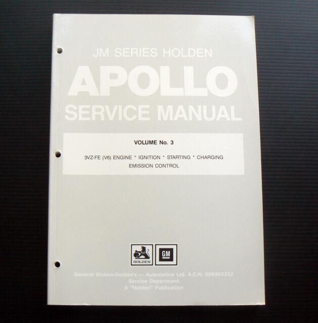 JM APOLLO Holden Service Manual Volume No 3 engine 3VZ-FE V6 workshop repair EFI