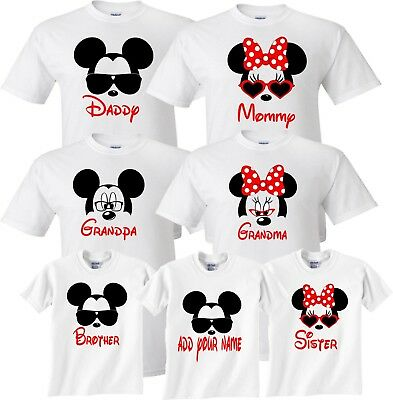 Mom And Dad And Family Vacation 2018 Mickey Minnie Disney Trip T Shirts