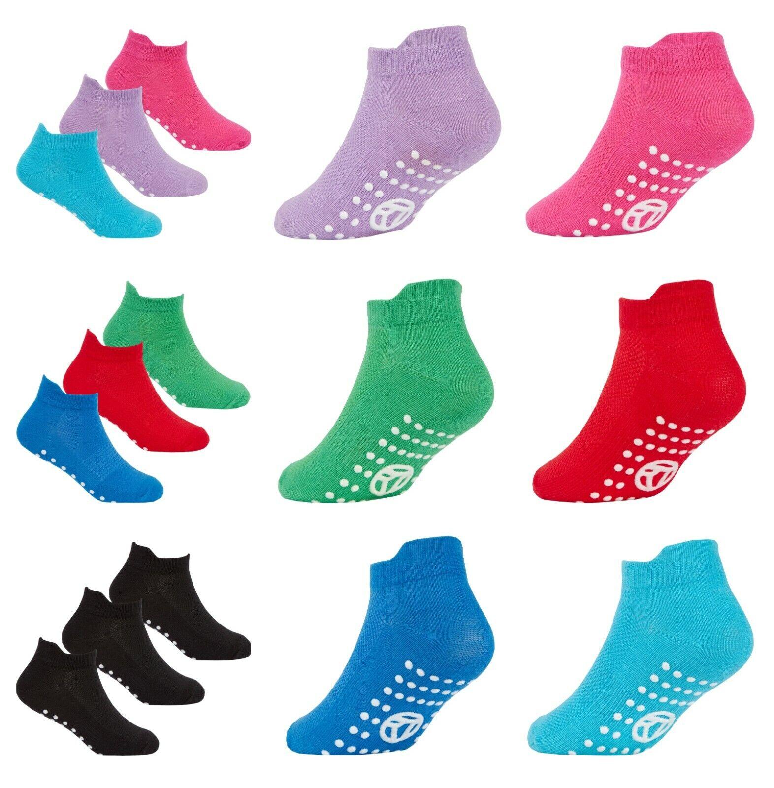 Kids Trainer Socks Gripper Sole Ideal For Soft Play Trampoli