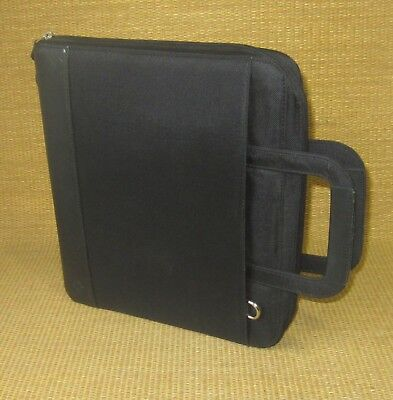 Monarchfolio 1.25 Rings Black Durable Franklin Covey Zip Plannerbinder