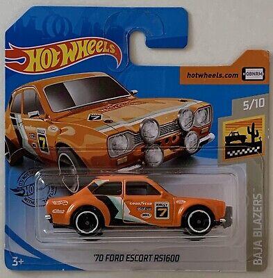 Hot Wheels '70 Ford Escort RS1600 Orange 2020 5/10 Baja Blazers NEW Hotwheels