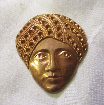 Vintage Stamping Setting - Vintage Swami Die Struck Brass Stamping, Jewelry Component, Stone Setting Spaces