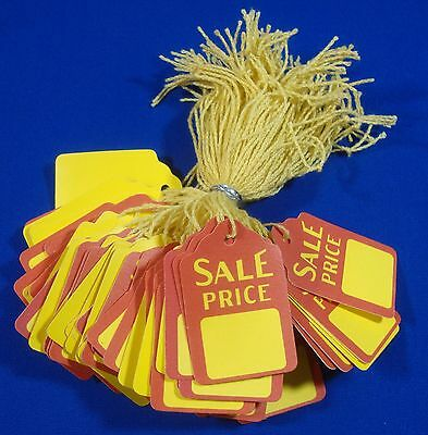 100 Qty. Sale Price Strung Merchandise Tags 5 Retail Store Supplies