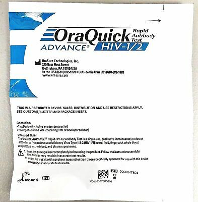 Orasure OraQuick Advanced HIV-1 & HIV-2 Home Test Kit - FREE