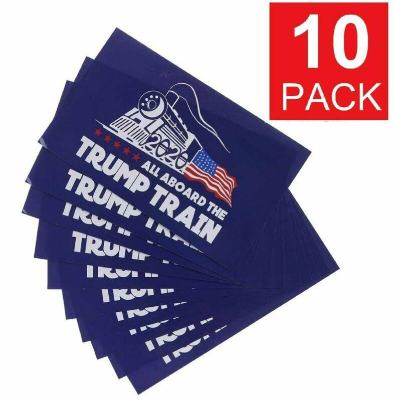 10x All Aboard The Trump Train 2020 President Trump Window Decal Bumper Sticker