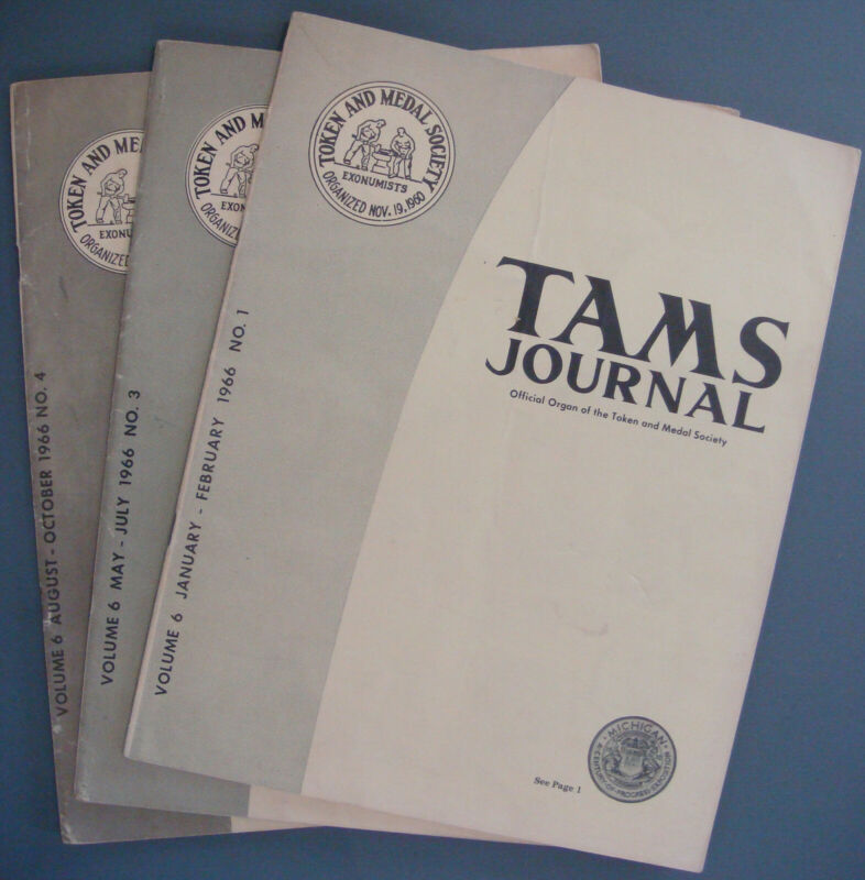3 SCARCE early TAMS Journals - 1966 Volume V Number 1, 3 & 4