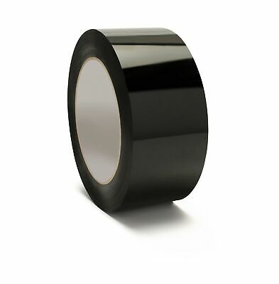 48 Rolls Black Color Packing Tape 3 X 55 Yards 2mil Shipping Supplies Tapes
