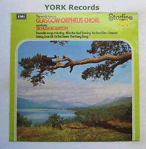 GLASGOW ORPHEUS CHOIR - Excellent Condition LP Record Starline SRS 5124