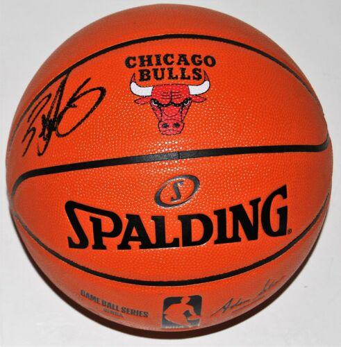 ZACH LAVINE signed (CHICAGO BULLS) LOGO autographed NBA basketball W/COA