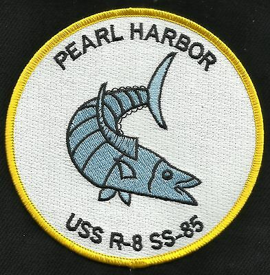 USS R-8 SS-85 Coastal and Harbor Defense Submarine Military Patch PEARL HARBOR