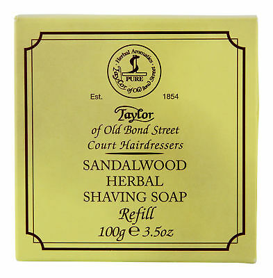 Taylor of Old Bond Street Sandalwood Soap Refill 100 g. Shaving Cream &
