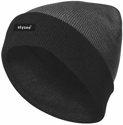 Herren Wintermütze warme Mütze Strickmütze Thinsulate grau/schwarz *JULIAN* NEU