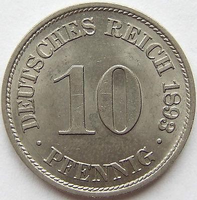 TOP! 10 Pf 1893 A in VORZÜGLICH / STEMPELGLANZ SELTEN !!!