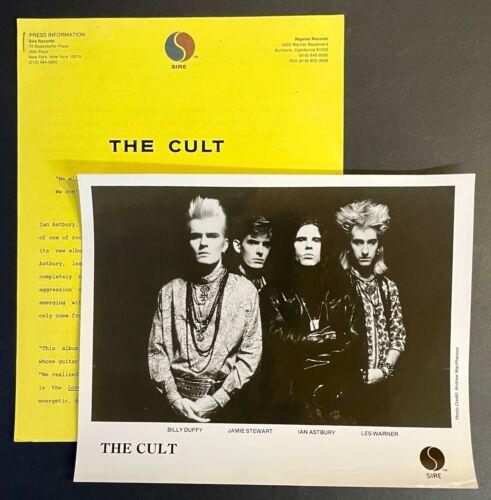 THE CULT Sonic Temple ORIGINAL 1989 PRESS KIT w/Photo Sire RARE Ian Astbury