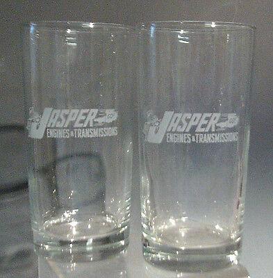 Set of 2 12oz Logo Ice Tea Glasses Jasper Engines & Transmissions